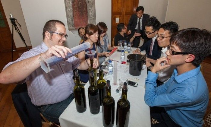 A different wine event - each corporate team has to collaborate to make their own wine!