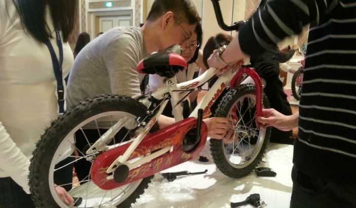 Meaningful mission to get your teammates making a bike for kids