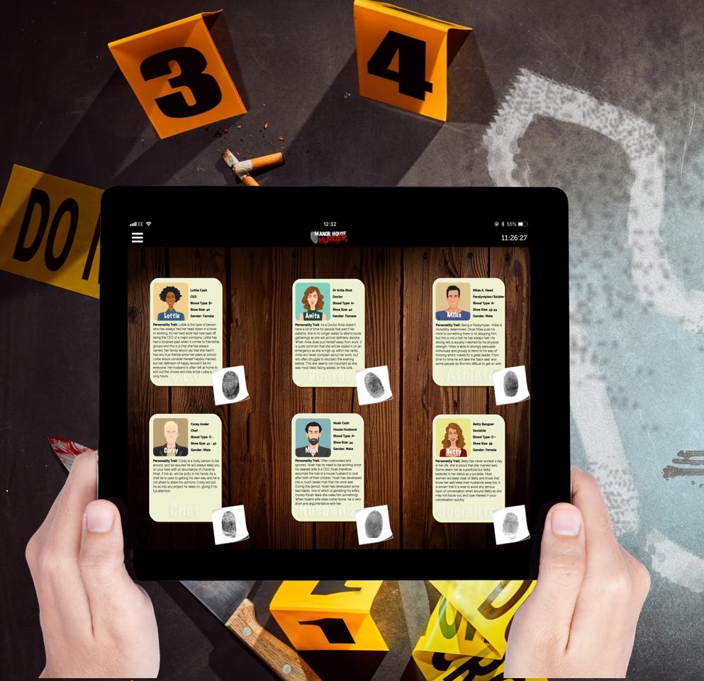 virtual murder mystery team building
