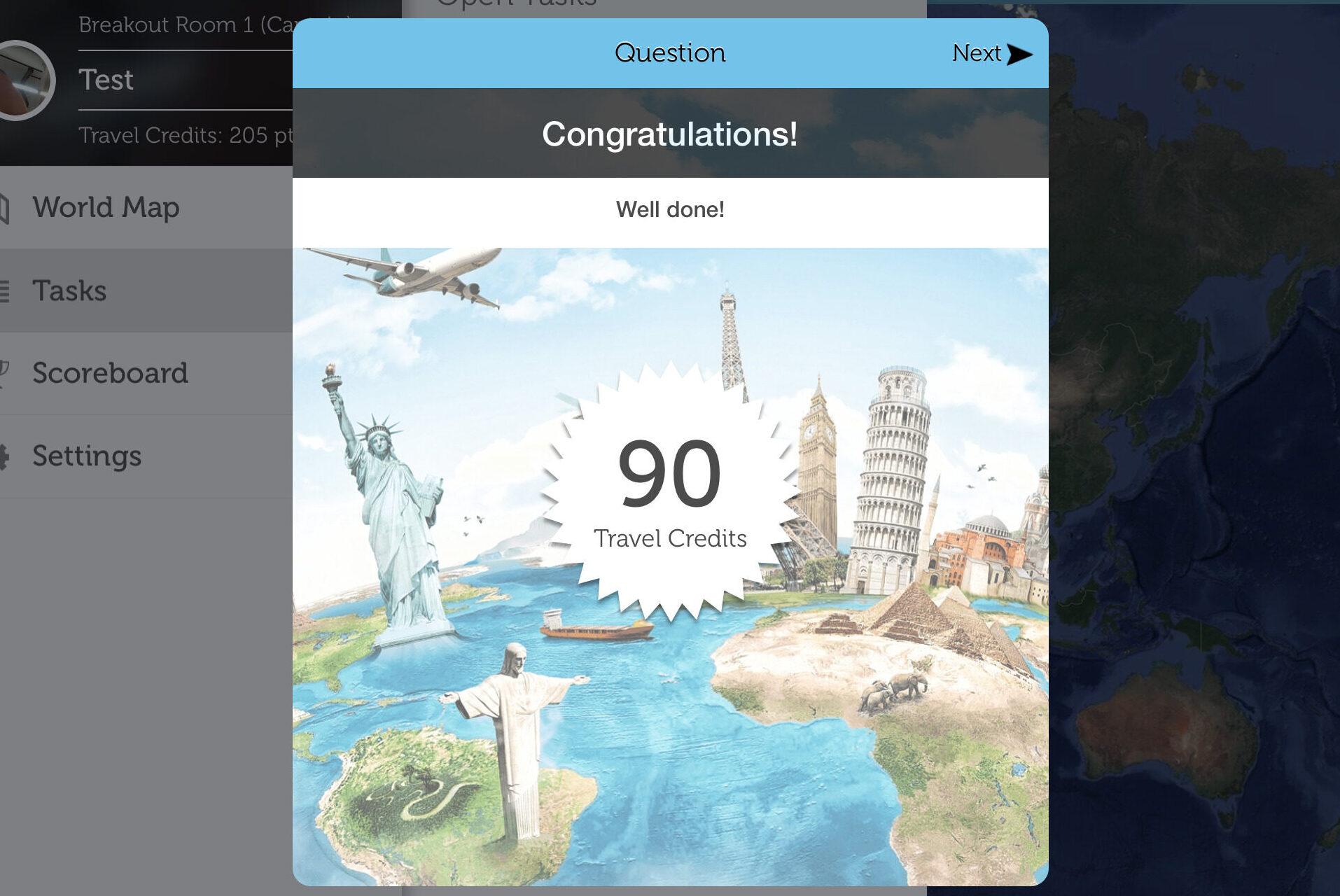 Around the World. virtual Team building
