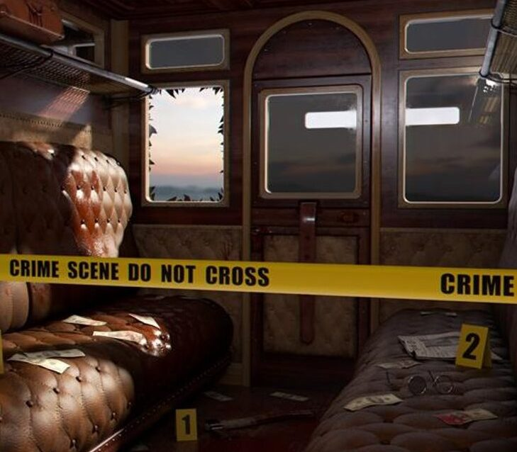 murder on the train, virtual team building